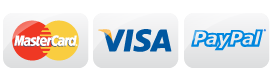 We accept visa, mastercard, and Paypal Payments Online.